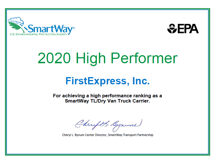2020 High Performer at Nashville truckload carriers with truckload carrier tracking
